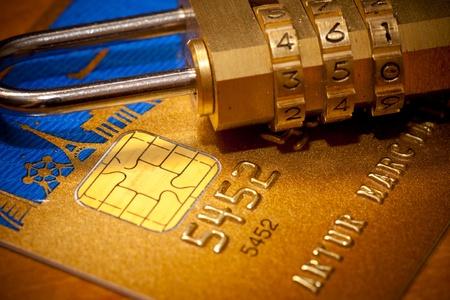 id card: Credit Card Security  Padlock
