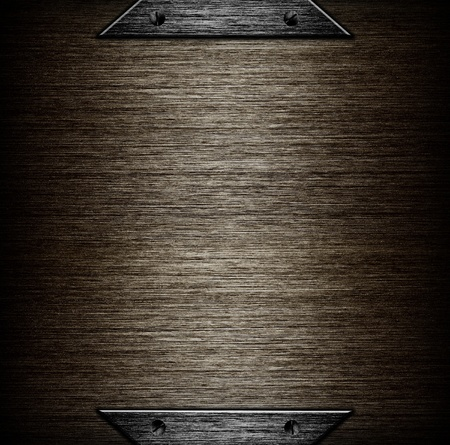 pattern of Brushed metal background  metal plate template Stock Photo - 13520461