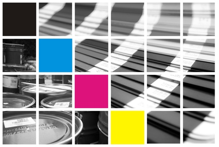 descriptive colour: collage color cmyk  Stock Photo
