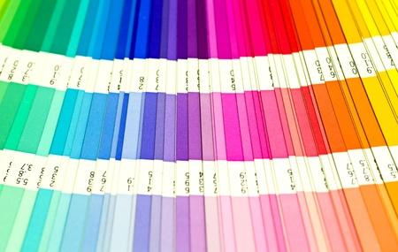 open Pantone sample colors catalogue photo