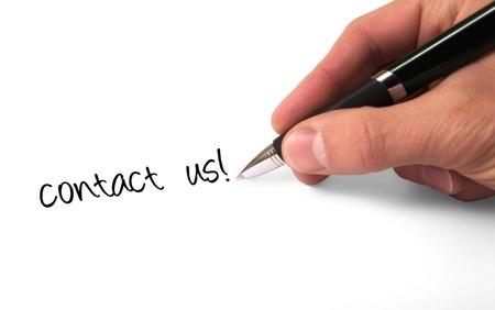 fountain pen writing: Fountain pen writing Contact Us  Stock Photo