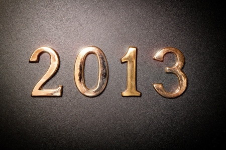 2013 gold text on black background photo