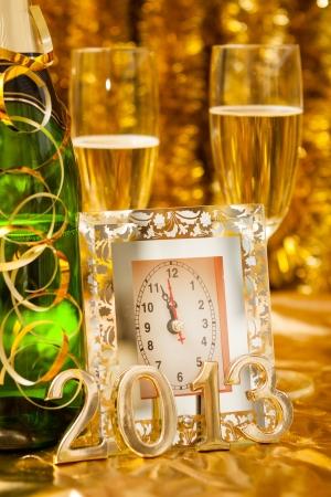 new year still life with clock Stock Photo - 16201041