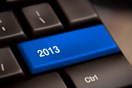 2013 Key On Keyboard  New year  Stock Photo - 16200892