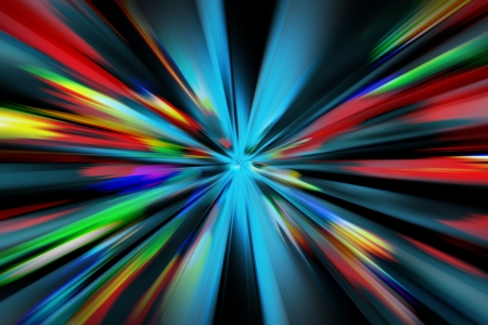 abstract night acceleration speed motion Stock Photo - 16442970