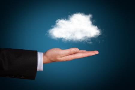 communicatie: Cloud computing concept met kopie ruimte Stockfoto