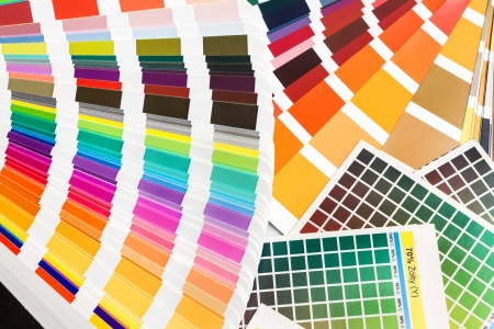 ral: Pantone, cmyk, ral sample colors catalogue  color swatches Stock Photo