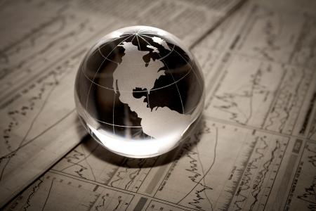 通信: 財務報告書の世界 写真素材