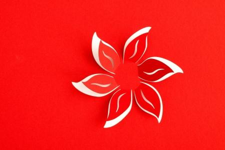 Carte de voeux avec fleur de papier Banque d'images