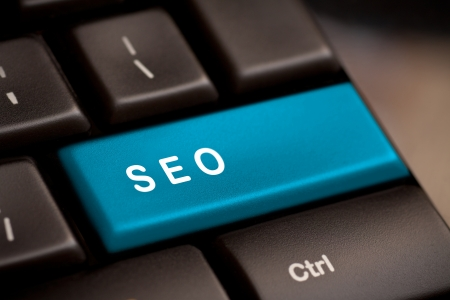 SEO button on the keyboard close-up Stock Photo - 19025867