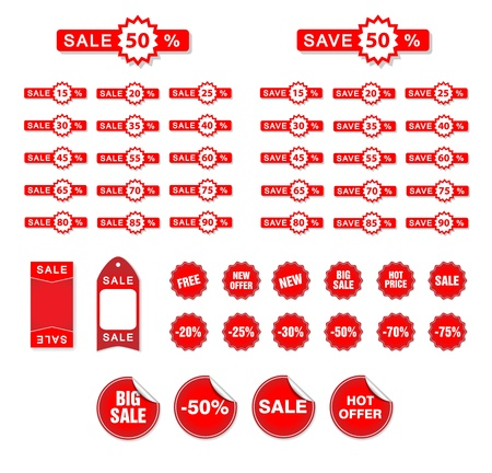 discount buttons:  Sale Tags Illustration