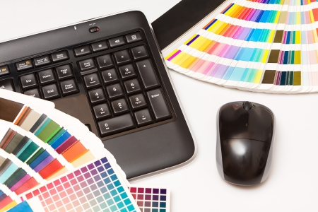 ral: color swatches and keyboard Stock Photo