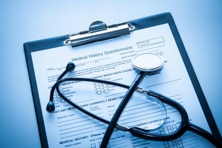 historia clinica: Concepto médico Foto de archivo
