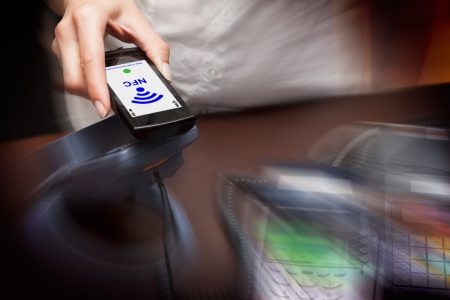 NFC - Near field communication   mobile payment Stock Photo - 19457772