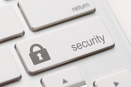 security button on the keyboard photo