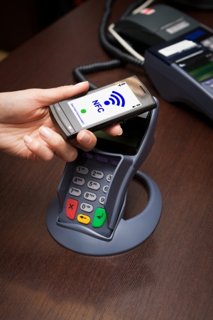 NFC - Near field communication   mobile payment Stock Photo - 20020509