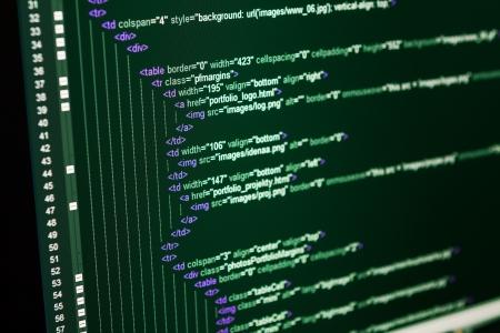 Program code on a monitor Stock Photo - 20416905