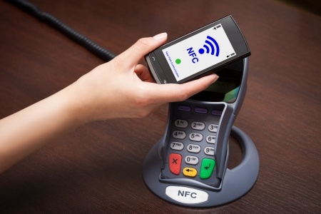 checkout: NFC - Near field communication  mobile payment