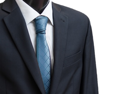 Black business suit with a tie photo