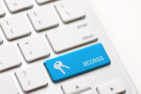 entering information: access enter key and keys icon.