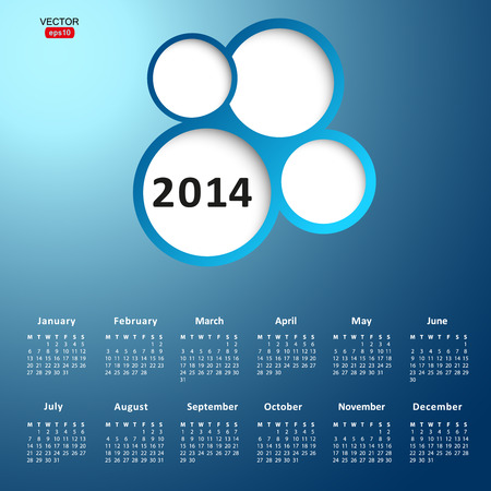 2014 new year calendar vector illustration illustration