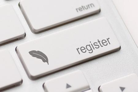 Gros plan de la cl? registre dans un clavier moderne