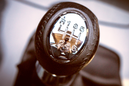 Gear shift handle in a modern car Stock Photo - 22268403