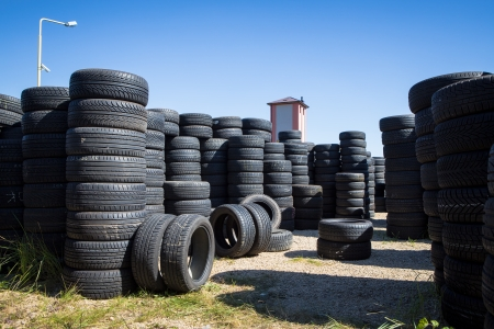 Stack of new tires for sale at a tire store Stock Photo - 22266128