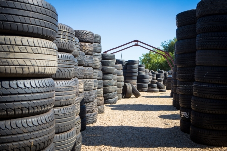 Stack of new tires for sale at a tire store Stock Photo - 22268416