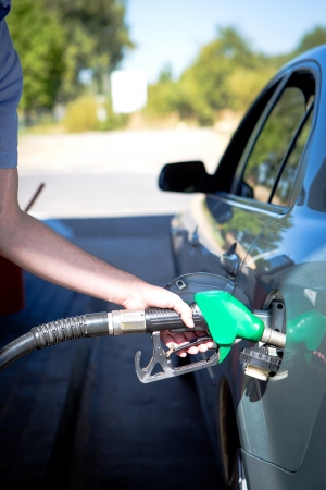 refueling: Car refueling on a petrol station