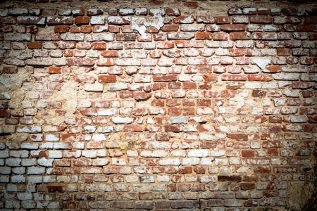 vintage look: sfondo di muro di mattoni con look vintage