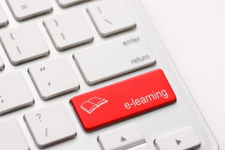 elearning: Computer Keyboard e-Learning Concept  Stock Photo