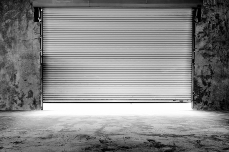 Building made of concrete with roller shutter door Stock Photo - 23040984