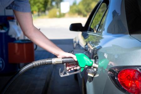Car refueling on a petrol station  photo