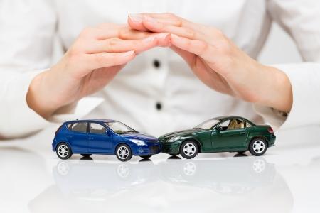 Protection de la voiture concept d'affaires Banque d'images