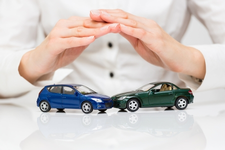 Protection of car  Business concept  Stock Photo