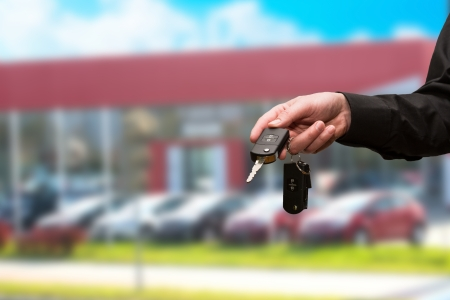 an insertion: Hand with a Car keys  Transportation  Driving  Stock Photo
