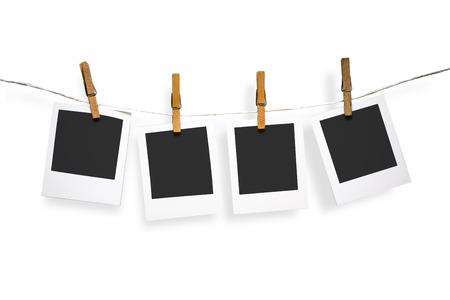 Blank photo frames on line photo