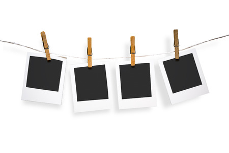 pack string: Blank photo frames on line