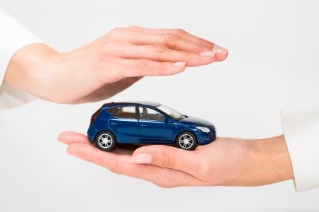Bescherming van de auto Business concept
