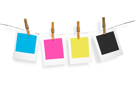Blank photo frames on line Stock Photo - 23215478