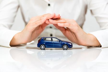 proteccion: Protecci�n de concepto de negocio de coches Foto de archivo