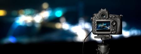 microstock: Digital camera the night view  Beautiful colors
