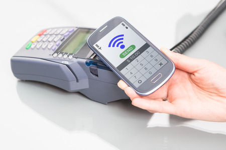NFC - Near field communication, mobile payment  Stock Photo - 24984743