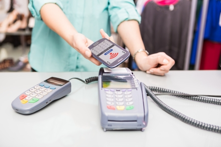 NFC - Near field communication, mobile payment Stock Photo - 24984750