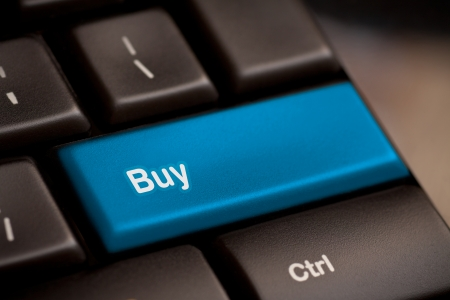 buy key on keyboard showing ecommerce or commerce concept photo