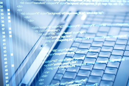 computer program: Program code and computer keyboard