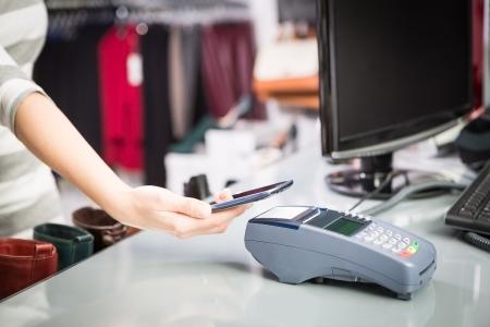 NFC - Near field communication, mobile payment Banco de Imagens - 25232978