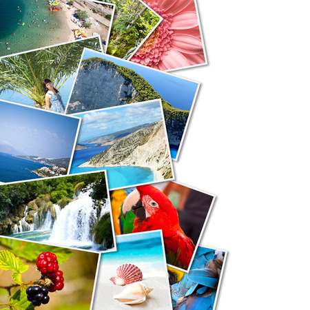 stock image: A pile of photographs with your empty space