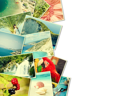 stock photo: A pile of photographs with your empty space